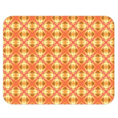 Peach Pineapple Abstract Circles Arches Double Sided Flano Blanket (medium)  by DianeClancy