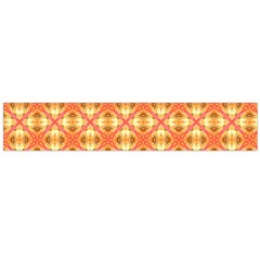 Peach Pineapple Abstract Circles Arches Flano Scarf (large) by DianeClancy