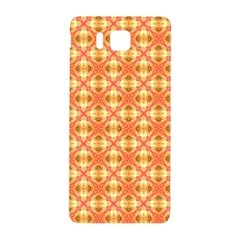 Peach Pineapple Abstract Circles Arches Samsung Galaxy Alpha Hardshell Back Case by DianeClancy