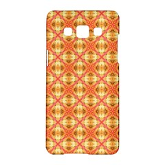 Peach Pineapple Abstract Circles Arches Samsung Galaxy A5 Hardshell Case  by DianeClancy