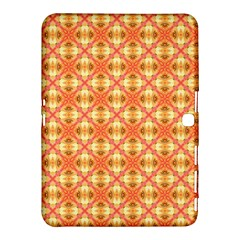 Peach Pineapple Abstract Circles Arches Samsung Galaxy Tab 4 (10 1 ) Hardshell Case  by DianeClancy