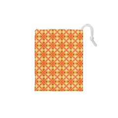 Peach Pineapple Abstract Circles Arches Drawstring Pouches (xs)  by DianeClancy