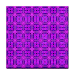 Abstract Dancing Diamonds Purple Violet Tile Coasters by DianeClancy