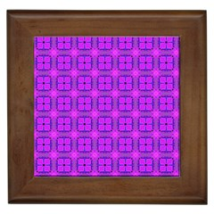 Abstract Dancing Diamonds Purple Violet Framed Tiles by DianeClancy