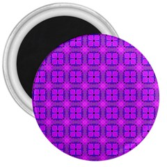Abstract Dancing Diamonds Purple Violet 3  Magnets by DianeClancy