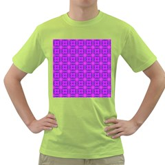 Abstract Dancing Diamonds Purple Violet Green T Shirt by DianeClancy