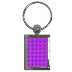 Abstract Dancing Diamonds Purple Violet Key Chains (rectangle)  by DianeClancy