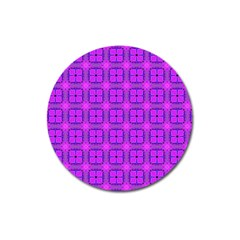 Abstract Dancing Diamonds Purple Violet Magnet 3  (round) by DianeClancy