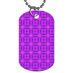 Abstract Dancing Diamonds Purple Violet Dog Tag (two Sides) by DianeClancy