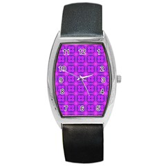 Abstract Dancing Diamonds Purple Violet Barrel Style Metal Watch by DianeClancy