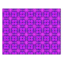 Abstract Dancing Diamonds Purple Violet Rectangular Jigsaw Puzzl by DianeClancy