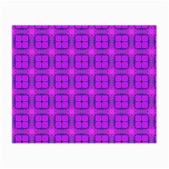 Abstract Dancing Diamonds Purple Violet Small Glasses Cloth by DianeClancy