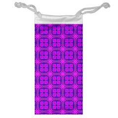 Abstract Dancing Diamonds Purple Violet Jewelry Bags by DianeClancy