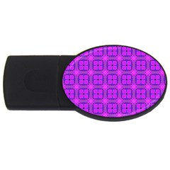 Abstract Dancing Diamonds Purple Violet Usb Flash Drive Oval (4 Gb)  by DianeClancy