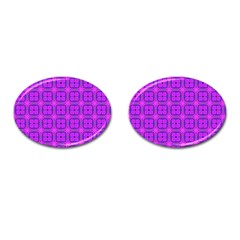 Abstract Dancing Diamonds Purple Violet Cufflinks (oval) by DianeClancy