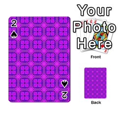 Abstract Dancing Diamonds Purple Violet Playing Cards 54 Designs  by DianeClancy