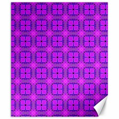 Abstract Dancing Diamonds Purple Violet Canvas 20  X 24   by DianeClancy
