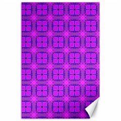 Abstract Dancing Diamonds Purple Violet Canvas 24  X 36  by DianeClancy
