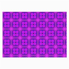 Abstract Dancing Diamonds Purple Violet Large Glasses Cloth (2 Side) by DianeClancy