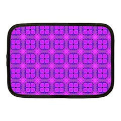 Abstract Dancing Diamonds Purple Violet Netbook Case (medium)  by DianeClancy