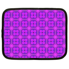 Abstract Dancing Diamonds Purple Violet Netbook Case (large) by DianeClancy