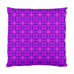 Abstract Dancing Diamonds Purple Violet Standard Cushion Case (one Side) by DianeClancy
