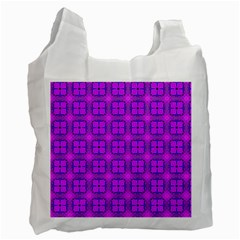 Abstract Dancing Diamonds Purple Violet Recycle Bag (two Side)  by DianeClancy