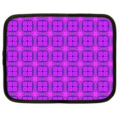 Abstract Dancing Diamonds Purple Violet Netbook Case (xl)  by DianeClancy