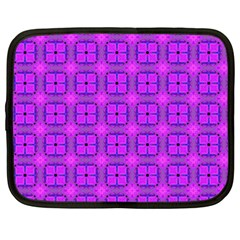 Abstract Dancing Diamonds Purple Violet Netbook Case (xxl)  by DianeClancy
