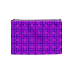 Abstract Dancing Diamonds Purple Violet Cosmetic Bag (medium)  by DianeClancy
