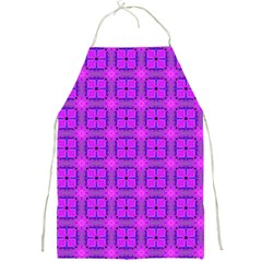 Abstract Dancing Diamonds Purple Violet Full Print Aprons by DianeClancy