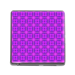 Abstract Dancing Diamonds Purple Violet Memory Card Reader (square) by DianeClancy