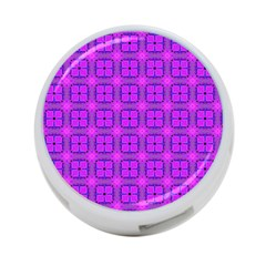 Abstract Dancing Diamonds Purple Violet 4 Port Usb Hub (one Side) by DianeClancy