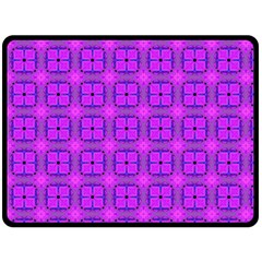 Abstract Dancing Diamonds Purple Violet Fleece Blanket (large)  by DianeClancy