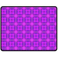 Abstract Dancing Diamonds Purple Violet Fleece Blanket (medium)  by DianeClancy
