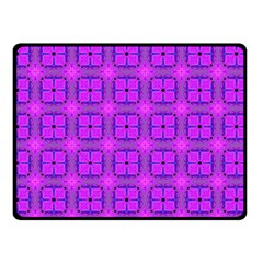 Abstract Dancing Diamonds Purple Violet Fleece Blanket (small) by DianeClancy