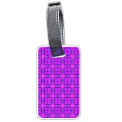 Abstract Dancing Diamonds Purple Violet Luggage Tags (one Side)  by DianeClancy