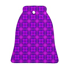 Abstract Dancing Diamonds Purple Violet Ornament (bell)  by DianeClancy