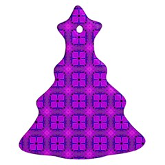 Abstract Dancing Diamonds Purple Violet Christmas Tree Ornament (2 Sides) by DianeClancy