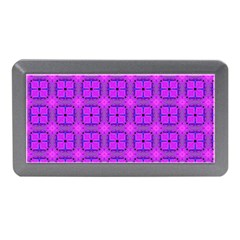 Abstract Dancing Diamonds Purple Violet Memory Card Reader (mini) by DianeClancy