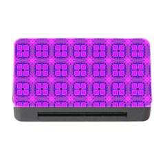 Abstract Dancing Diamonds Purple Violet Memory Card Reader With Cf by DianeClancy