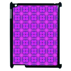 Abstract Dancing Diamonds Purple Violet Apple Ipad 2 Case (black) by DianeClancy