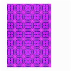 Abstract Dancing Diamonds Purple Violet Small Garden Flag (two Sides) by DianeClancy