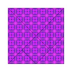 Abstract Dancing Diamonds Purple Violet Acrylic Tangram Puzzle (6  X 6 ) by DianeClancy