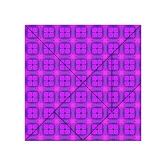 Abstract Dancing Diamonds Purple Violet Acrylic Tangram Puzzle (4  X 4 ) by DianeClancy
