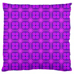 Abstract Dancing Diamonds Purple Violet Large Cushion Case (two Sides) by DianeClancy