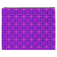 Abstract Dancing Diamonds Purple Violet Cosmetic Bag (xxxl)  by DianeClancy