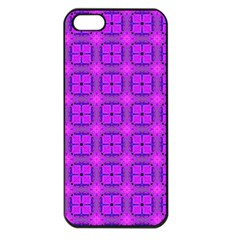 Abstract Dancing Diamonds Purple Violet Apple Iphone 5 Seamless Case (black) by DianeClancy
