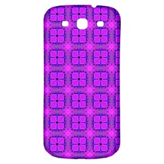 Abstract Dancing Diamonds Purple Violet Samsung Galaxy S3 S Iii Classic Hardshell Back Case by DianeClancy