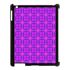 Abstract Dancing Diamonds Purple Violet Apple Ipad 3/4 Case (black) by DianeClancy